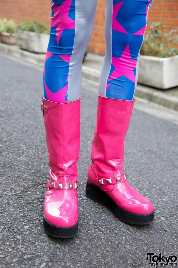 Pink Super Lovers Platform Boots