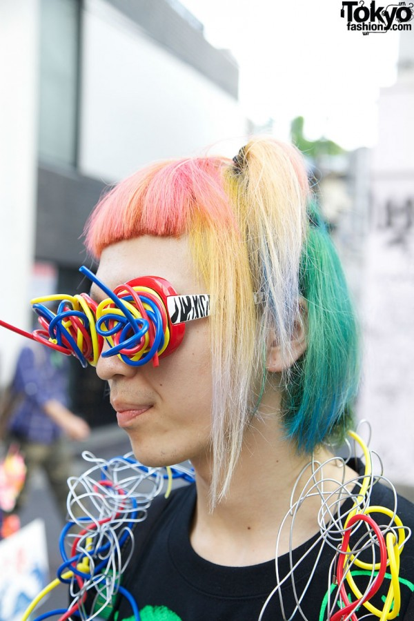 Rainbow Hair Color in Harajuku