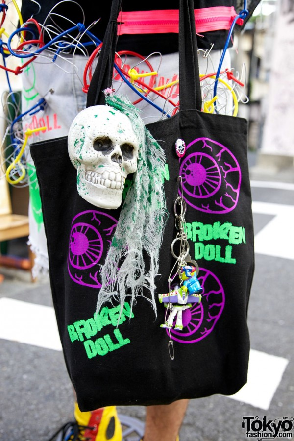 Broken Doll Bag & Skull