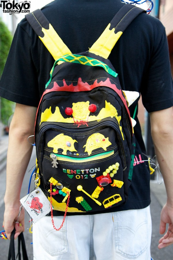 Hand Decorated Harajuku Backpack