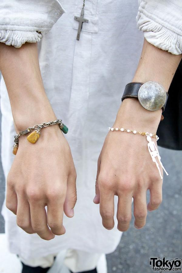Skeleton charm bracelet