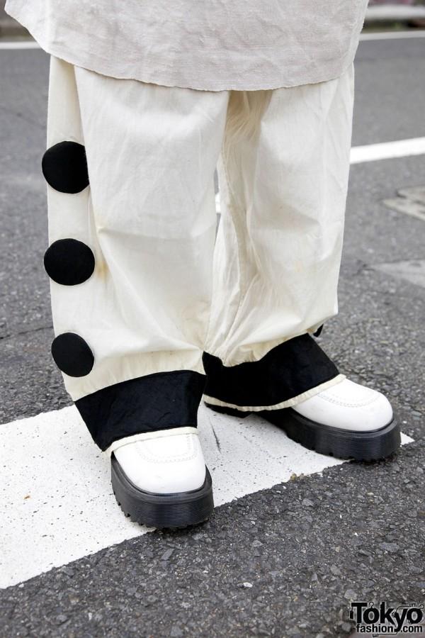 Antique pants & Dr. Martens shoes