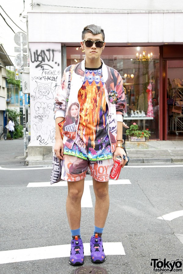 Colorful OKAY! x Radd Lounge Outfit, Vintage Timex & OFWGKTA