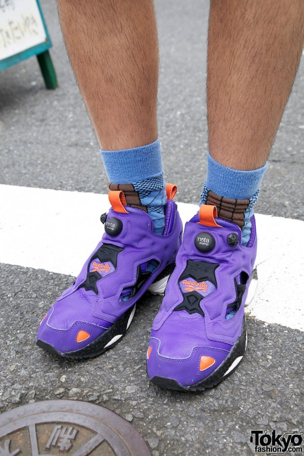 Purple Reebok Sneakers in Harajuku