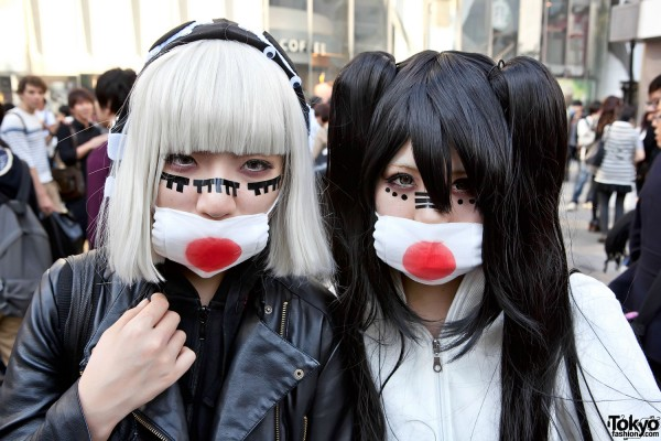 Masked Japanese Girls in Shibuya