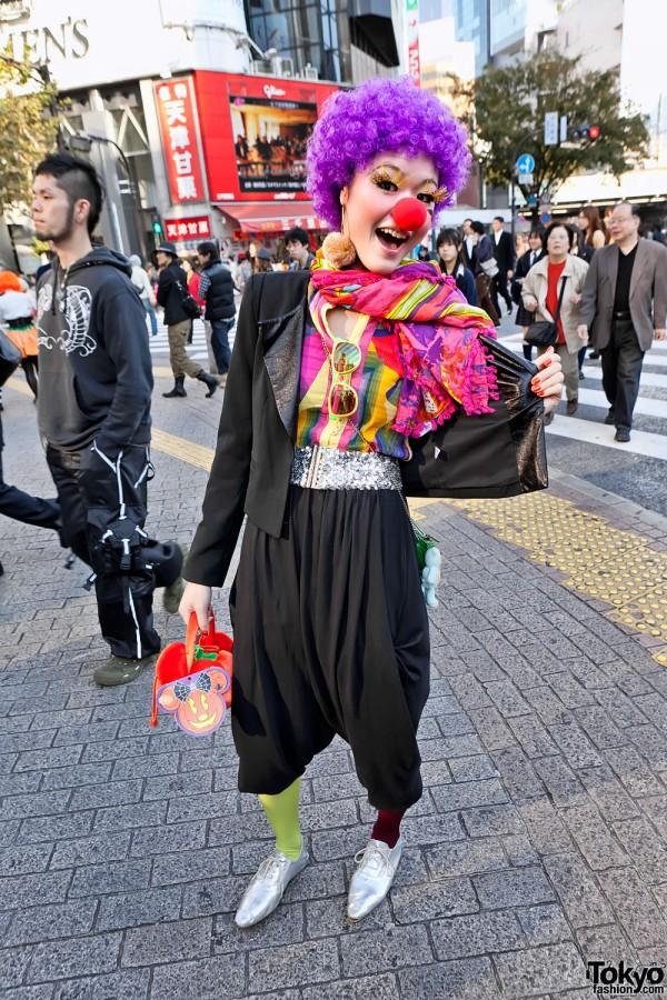 Shibuya Clown at Halloween