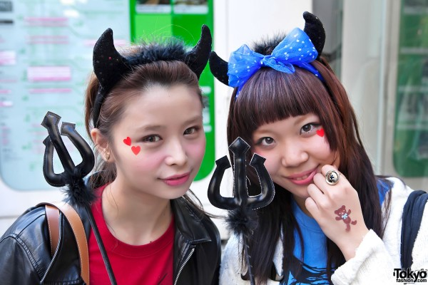Cute Harajuku Halloween Devil Girls