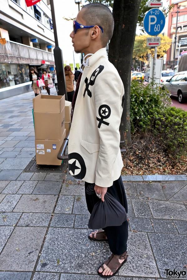 Graphic Japanese Blazer in Harajuku