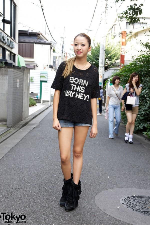 "Nadia Harajuku Yumi in Jouetie ""Born This Way Hey!"" Top & Moccasins"