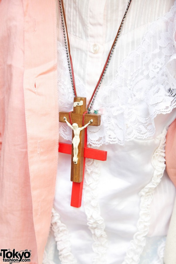 Necklaces with large cross pendants