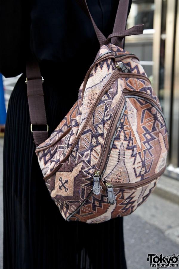 Resale ethnic print backpack
