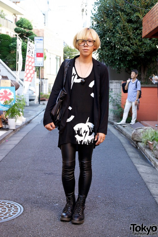 Dripping Graphic T-Shirt, Spandex Leggings & Dr. Martens Boots