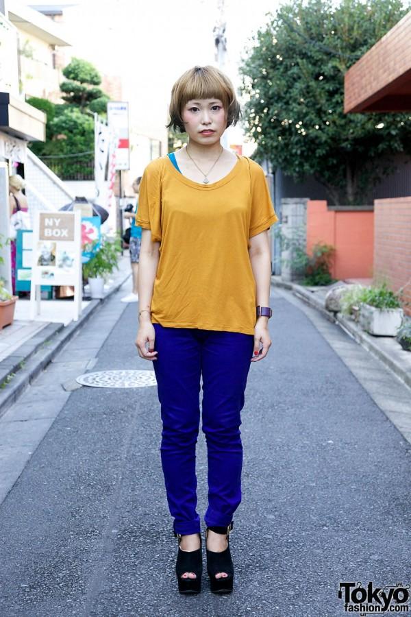Zara Top and H&M Pants in Harajuku