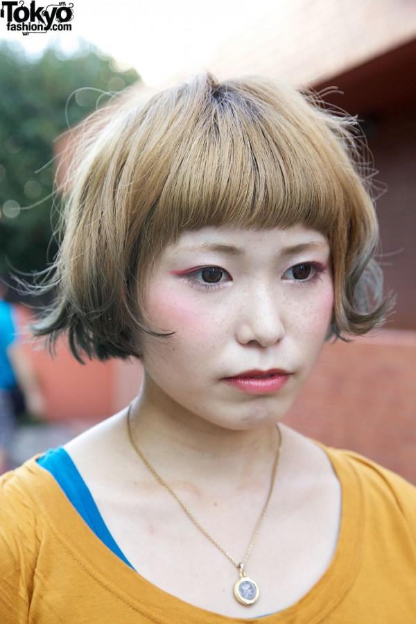 Beauty student with bob in Harajuku