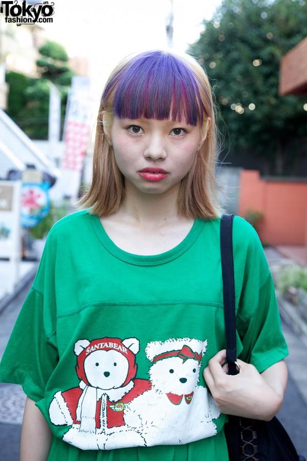 Santa Bear T-Shirt Dress in Harajuku