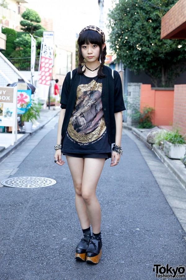 Tokyo Girl's Vivienne Westwood Street Style + F.E.A.R. Zipper Bracelet