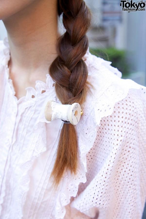 ZOOL thread spool hair fastener in Harajuku