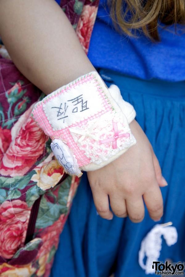 Kanji Wristband in Harajuku