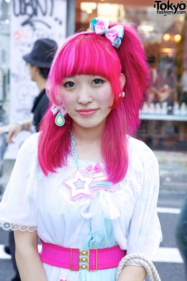 Pink Hair & 6%DOKIDOKI Necklace
