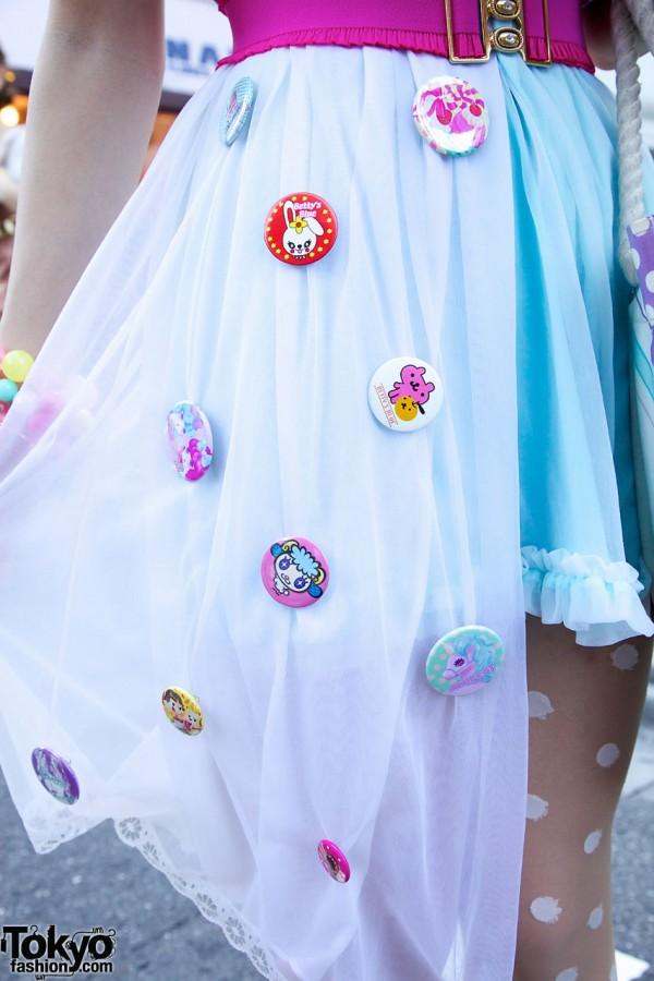 Cute Pins, Sheer Coat & 6%DOKIDOKI Dress