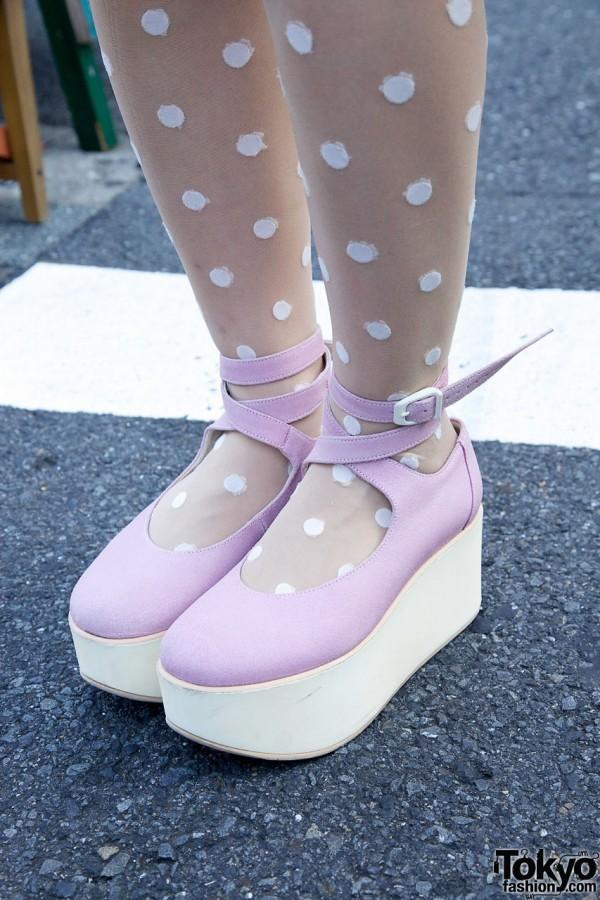 Pink Tokyo Bopper Platform Shoes