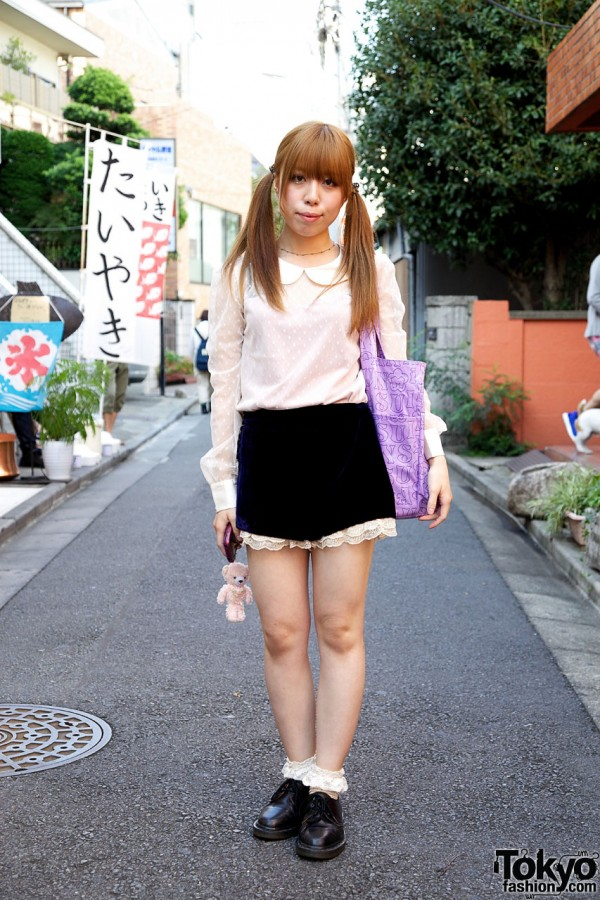 Japanese Pigtail Girl S Dimity Blouse Amp Lacy Shorts