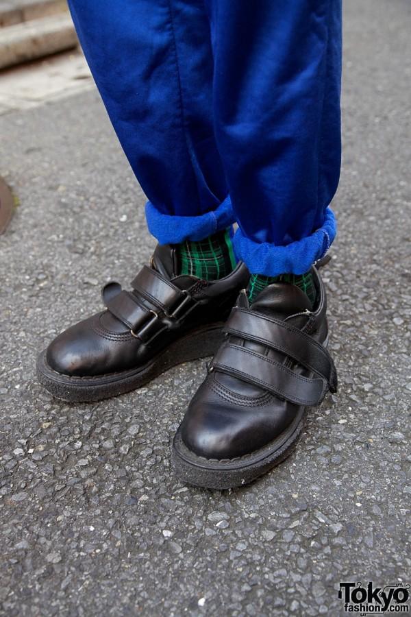 Black George Cox shoes in Harajuku
