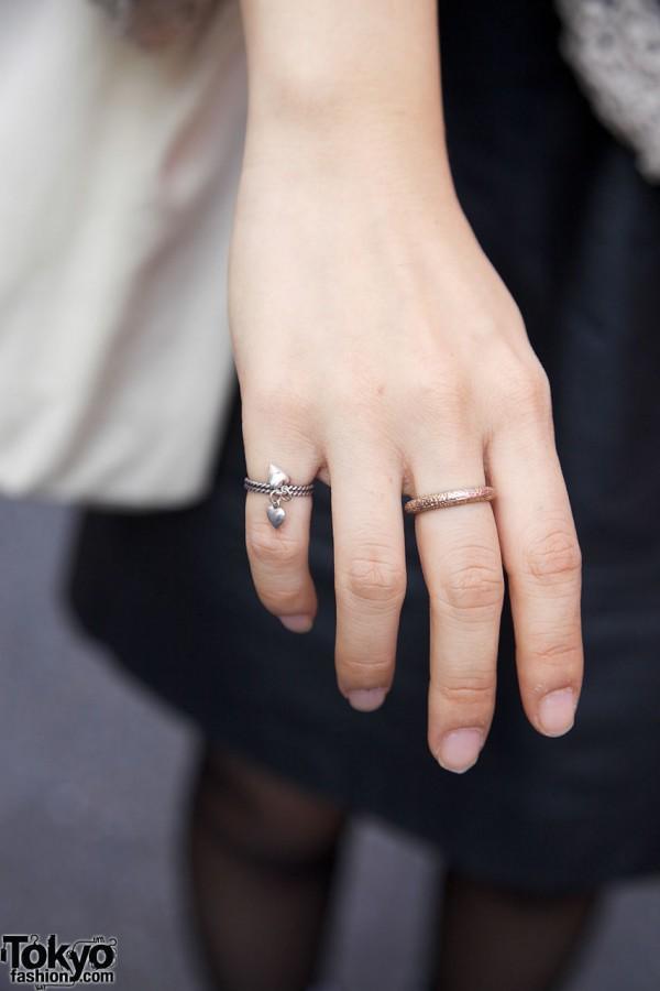 Gold & silver rings in Harajuku