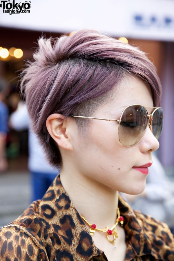 Lavender Hair Color in Harajuku