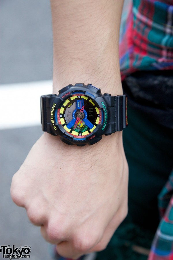 Multicolor watch from G-Shock x Dee & Ricky