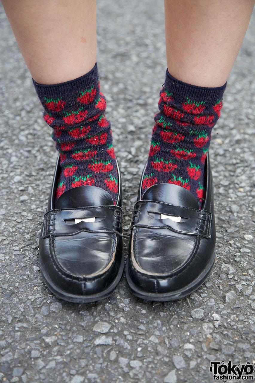 Haruta Penny Loafers Amp Strawberry Socks Tokyo Fashion News