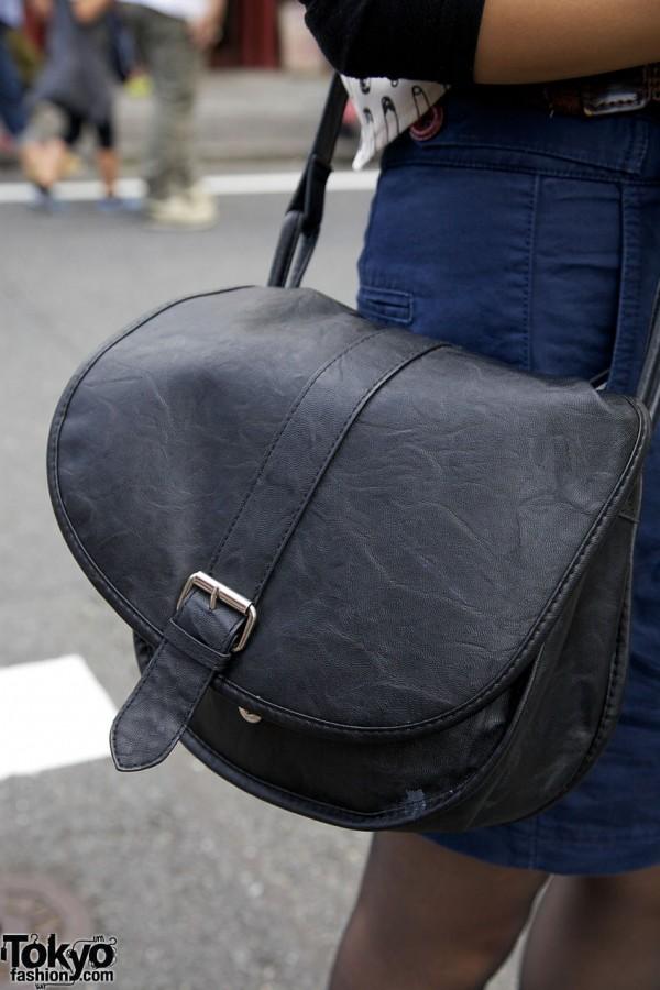 H&M cross body bag w/ silver buckle