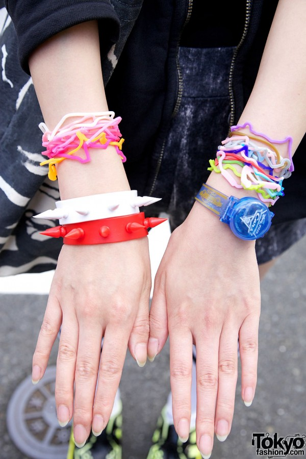 Spiked Bracelets, Silly Bandz & Cars Watch