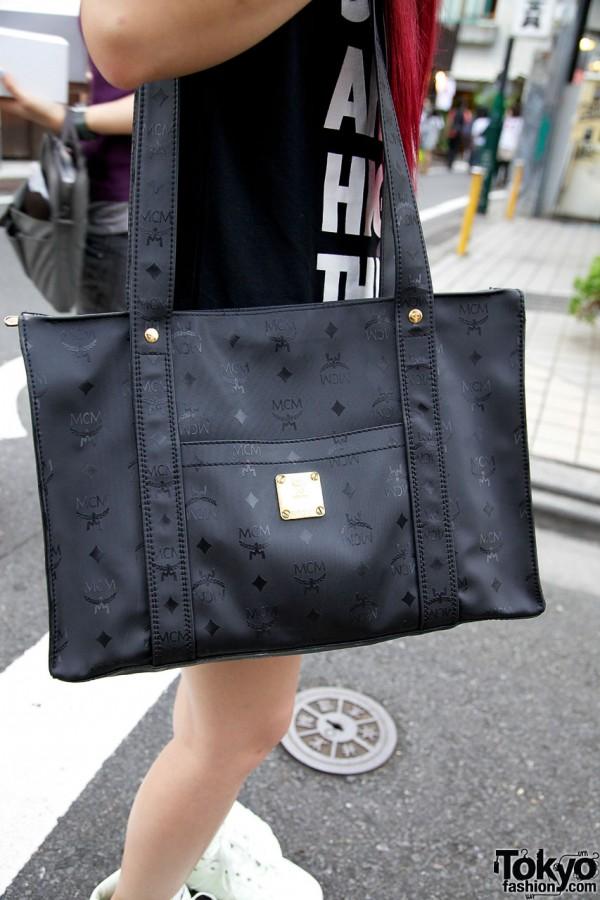 MCM bag in Harajuku