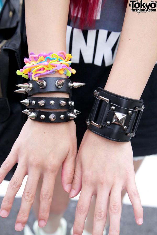 Gilfy & monomania bracelets in Harajuku