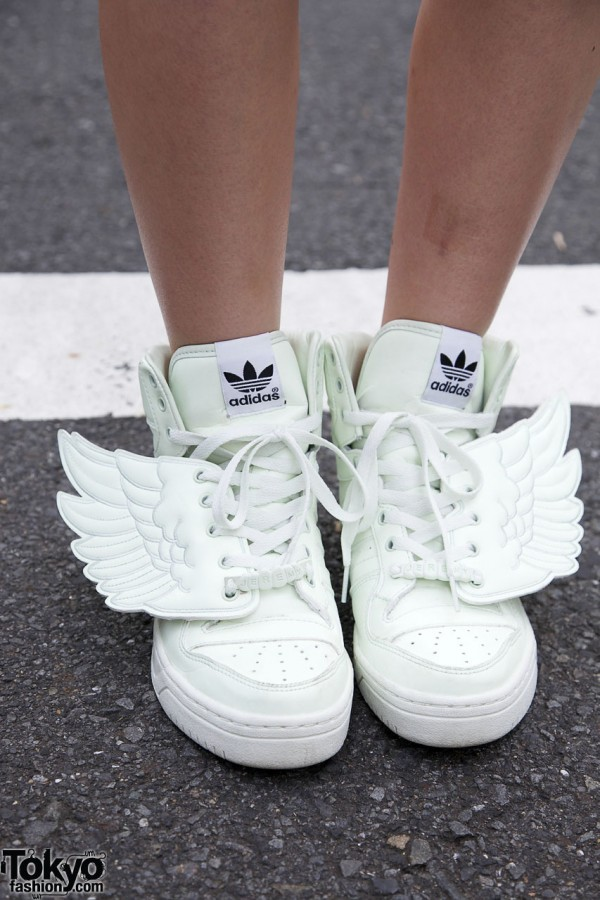 Winged sneakers by Jeremy Scott x Adidas in Harajuku