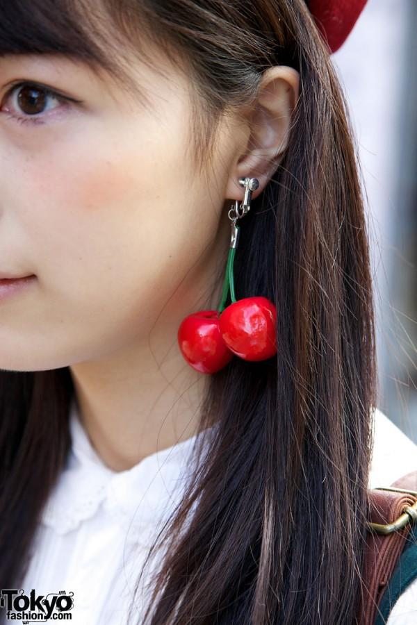 Cherry Earrings in Harajuku