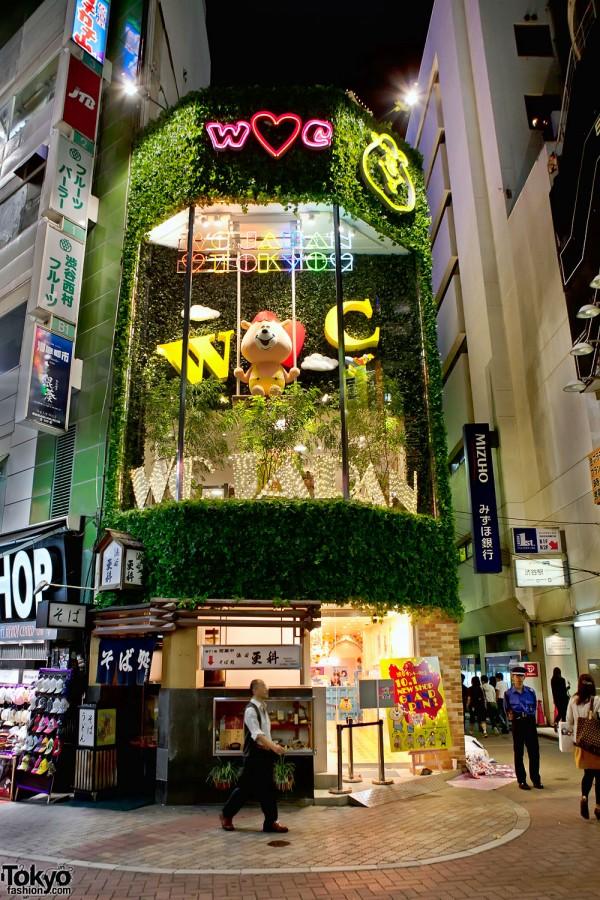 WC Shibuya Shop Grand Opening – Starring a Giant Swinging Bear