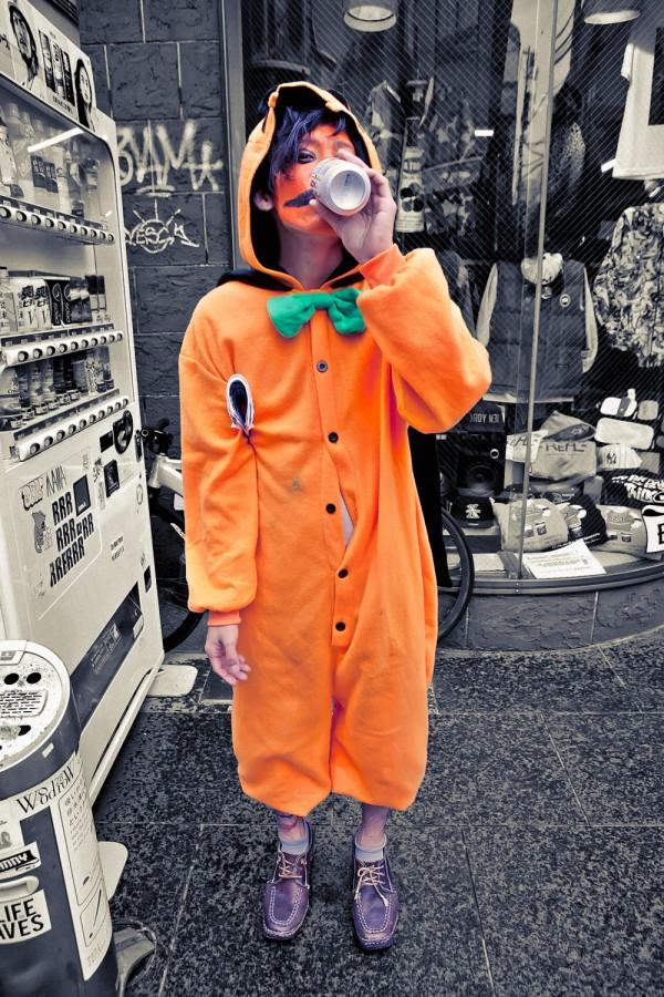 Harajuku Pumpkin Kigurumi Guy