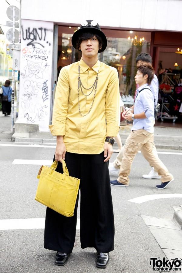 Yellow Jil Sander Shirt & Christopher Nemeth bag