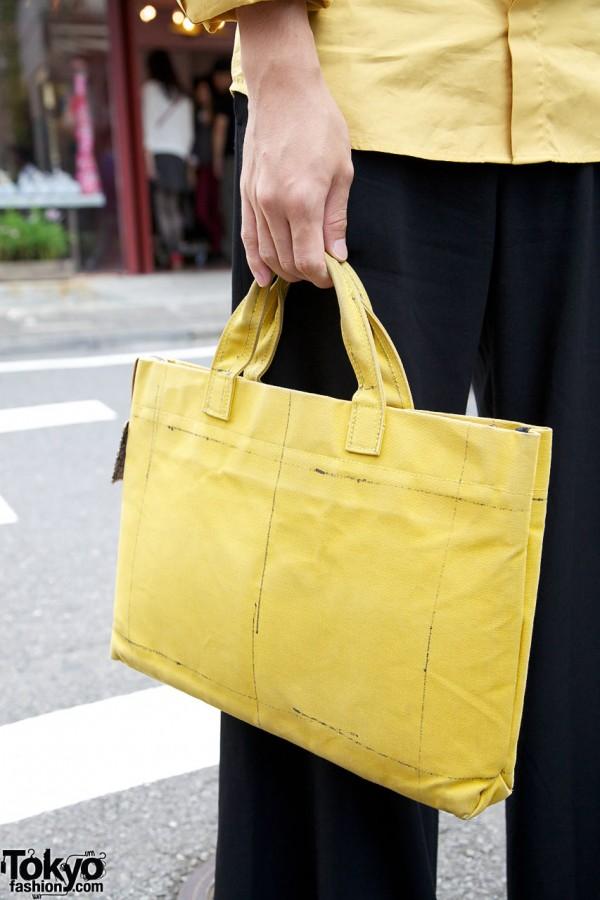 Yellow Christopher Nemeth tote bag in Harajuku