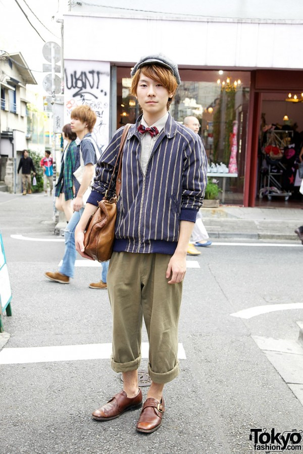Retro Jacket, Cap, Bow Tie & DoLuKE Bag in Harajuku