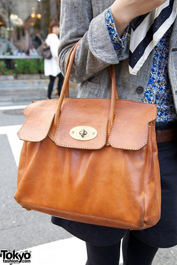 La Foret leather purse in Harajuku