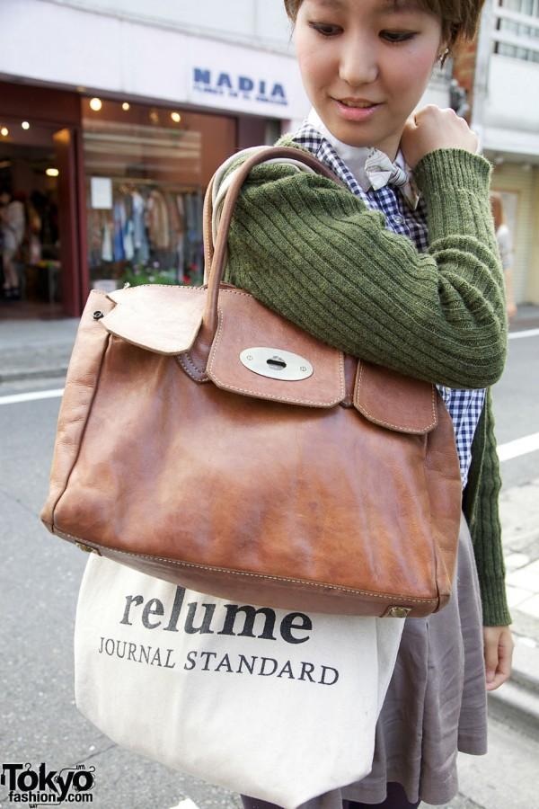 Leather La Foret purse in Harajuku