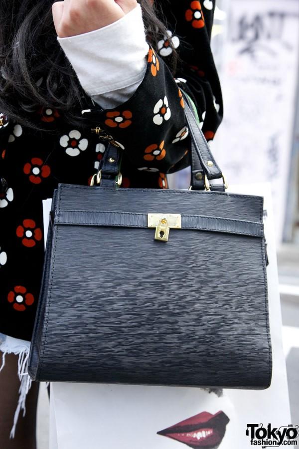 Leather Handbag in Harajuku