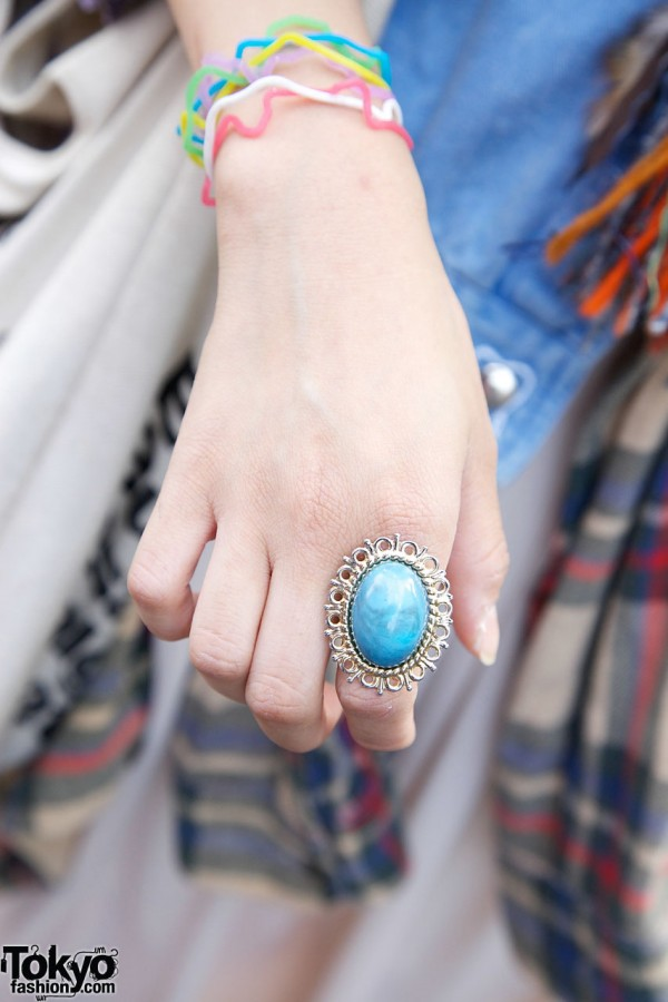 Resale silver & turquoise ring in Harajuku