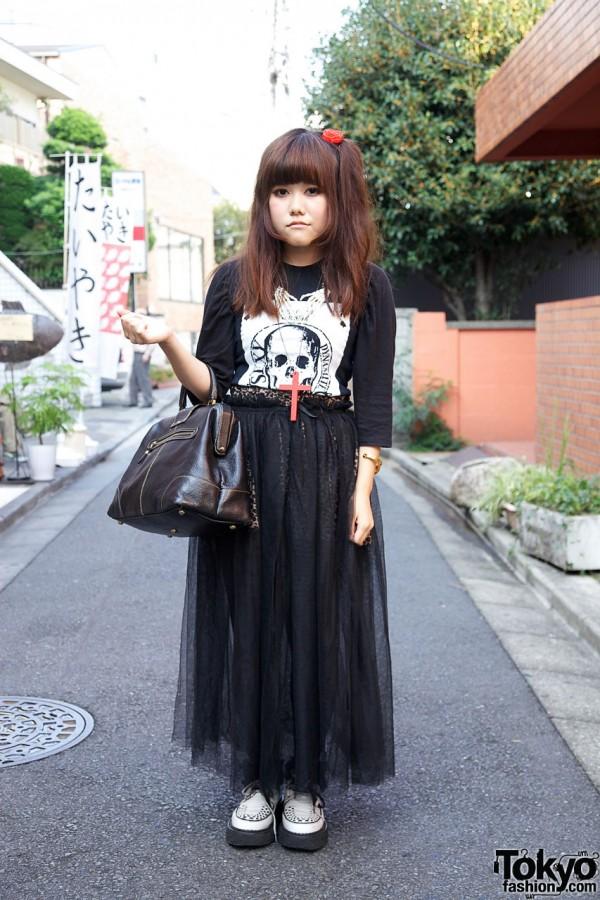 Sheer Skirt from Spinns Harajuku