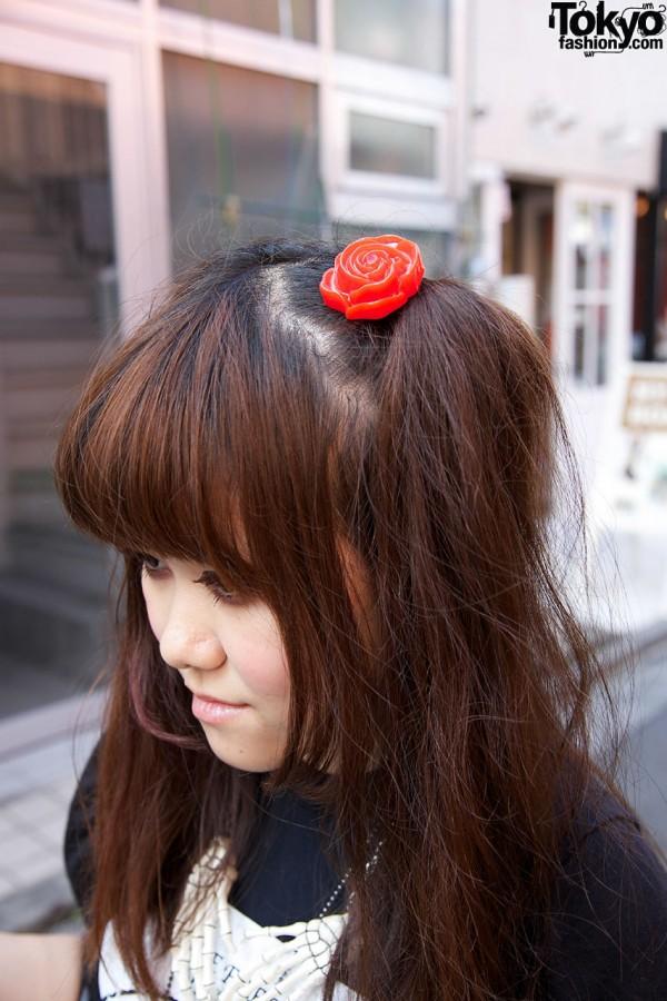 Rose Hairclip in Harajuku