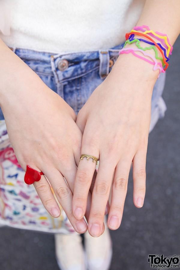 Heart & Crown Ring in Harajuku