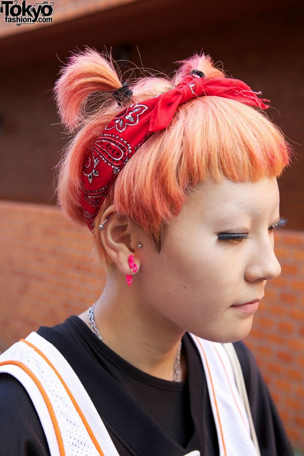 Girl S Peach Hair All Stars Shirt Adidas Shorts Amp Reebok